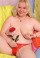 Cute plump taking her panties off