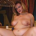 Chubby girl with nice plump titties jiggles shakes and fucks!