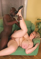 BBW with MONSTER JUGGS in interracial fuck scene!